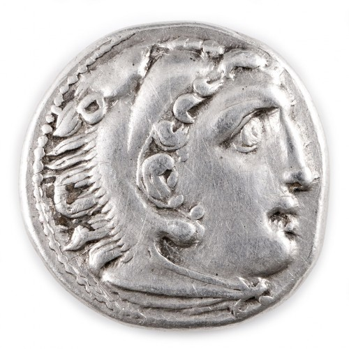 Ancient Greek Alexander III The Great Posthumous Issue Silver Drachm, Kolophon Mint, 322-319 BC