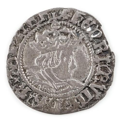 Henry VIII Silver Halfgroat,  Canterbury Mint, Arch. Warham, 1526-32