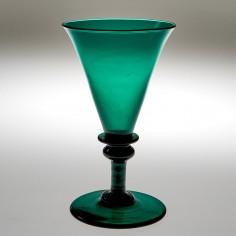 A Regency Green Wine Glass c1820
