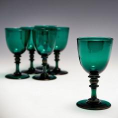 A Set of Six  Regency Wine Glasses c1830