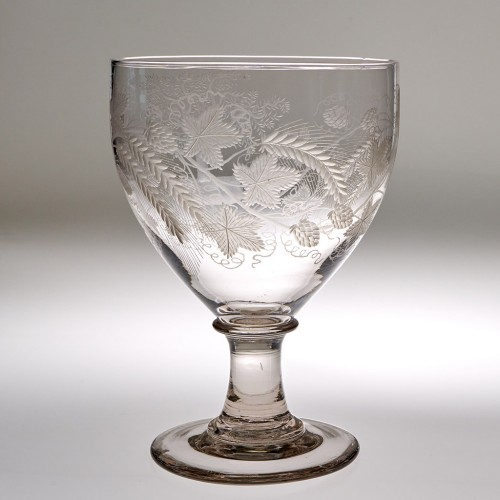 A Finely Engraved  Georgian Serving  Rummer c1810