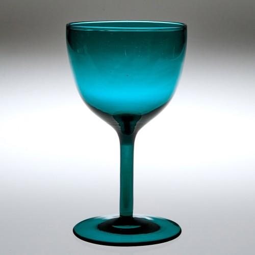 A Peacock Blue Wine Glass c1840