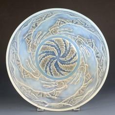 Rene Lalique Opalescent Chiens Bowl Designed 1921 Marcilhac 3214