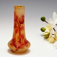 A Miniature Daum Nancy Thistle Vase c1910