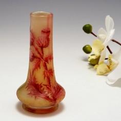 Miniature Daum Nancy Thistle Vase c1910