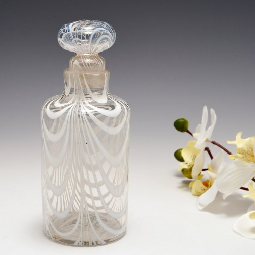 19th Century Nailsea Stoppered Bottle c1860