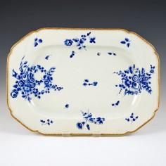 Worcester Dry Blue Serving Dish  c1770