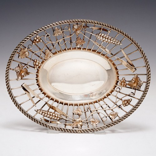 Sterling Silver Wire Work Dish London 1893