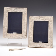 Pair Sterling Silver Photograph Frames