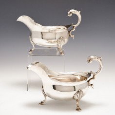 Pair Sterling Silver Sauce Boats London 1812