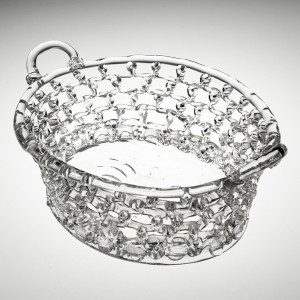 A Bristol Lead Glass Traforato Basket c1780