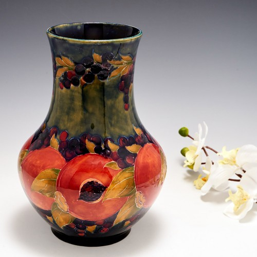 A William Moorcroft Pottery 'Pomegranate' Vase Dated 1918