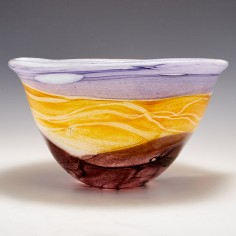 A Large Siddy Langley Harvest Moon Oval Bowl 2021