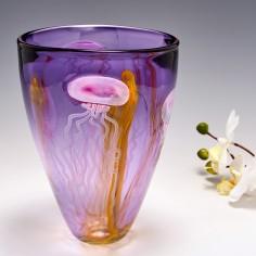 A Siddy Langley Amethyst Jellyfish Vase 2017