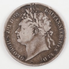 George IV Silver Shilling, 1825
