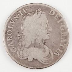 Charles II Silver Crown, 1671, TERTIO