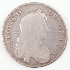 Charles II Silver Half-Crown, 1671, TERTIO