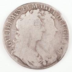 William & Mary, Silver Half-Crown, 1689