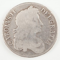 Charles II Silver Crown 1673, QVINTO