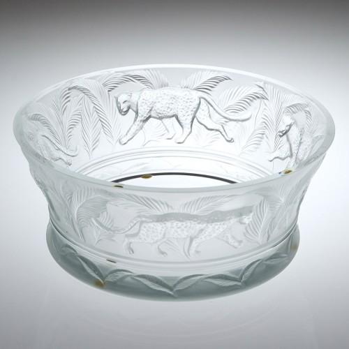 Lalique Crystal Jungle Bowl Designed 1999