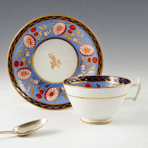 A New Hall Staffordshire Tea Cup and Saucer c1820