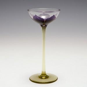 An Ehrenfeld Acid Cameo Clematis Flower Liqueur Glass c1905