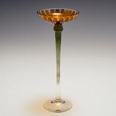 A Fritz Heckert Marigold Flower Liqueur Glass c1905