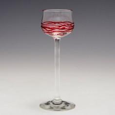 Early 20th Century German Art Nouveau (Jugendstil) Liqueur Glass c1905
