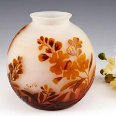 A Botanical Galle Cameo Vase c1925