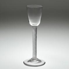 Rare Multi Series Air Twist Cordial Glass c1750