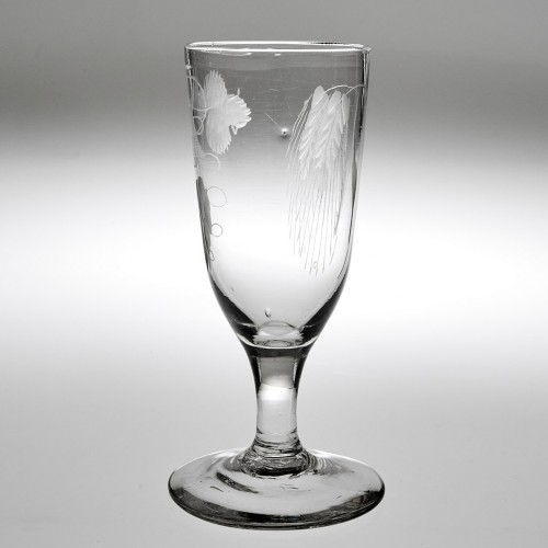 An Engraved Georgian Ale Glass c1780