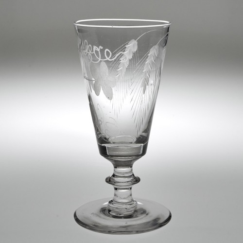 Victorian Engraved Ale Glass c1840