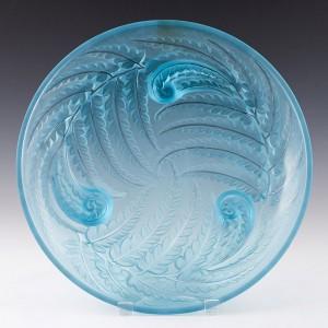 An Etling Glass Fern Pattern Charger c1930
