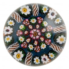 A Paul Ysart Patterned Millefiori Paperweight From Post War Moncrieff Period c1947-60