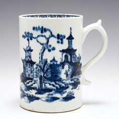A Lowestoft Blue and White Porcelain Mug, Circa1775