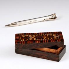 A Tunbridge Ware Match or Trinket Box c1880