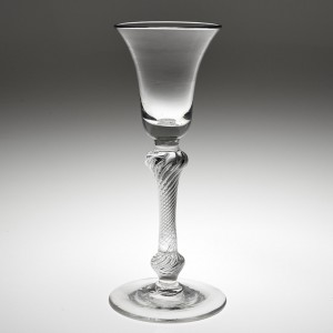 Double Knop Georgian Composite Stem Wine Glass c1750