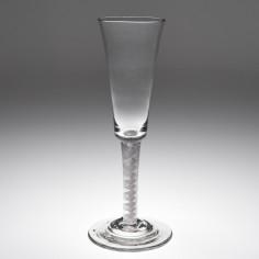 A Very Tall Georgian Opaque Twist Stem Ale Glass c1760