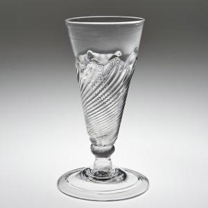 A Flamiform Ale Glass c1735
