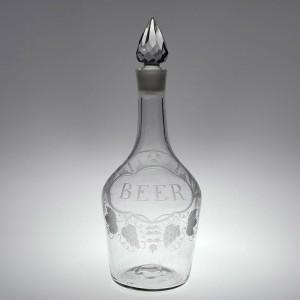 Engraved Beer Shoulder Decanter c1765