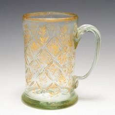 German or Bohemian Glass Tankard c1790