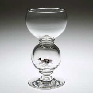 A Lampwork Hunt Glass by William Swingewood c1928