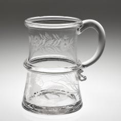 An Engraved Glass Tankard c1800