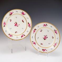 Pair of Flight Barr & Barr Worcester Plates c1825