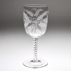 A Fine Acid Etched Victorian Water Glass c1880