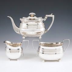Very Fine George III Sterling Silver Tea Set London 1806