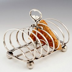 Victorian Sterling Silver Toast Rack London 1851