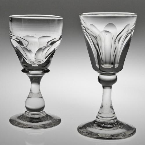 Two Victorian Deceptive Dram Glasses c1870