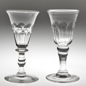 Two Victorian Gin Glasses