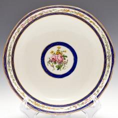 A Sevres Porcelain Shallow Bowl 1793